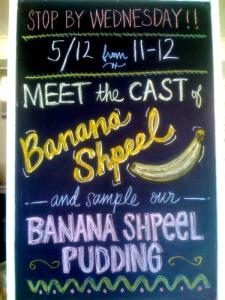 banana blackboard